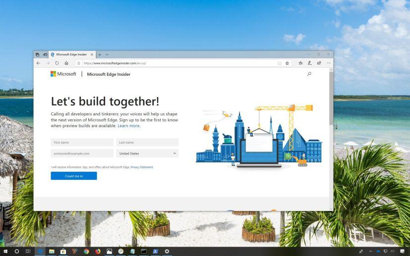 Microsoft Edge Insider program