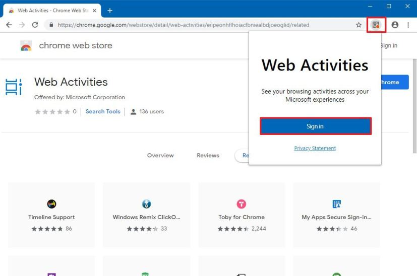Microsoft Web Activities extension to bring Timeline to Chrome
