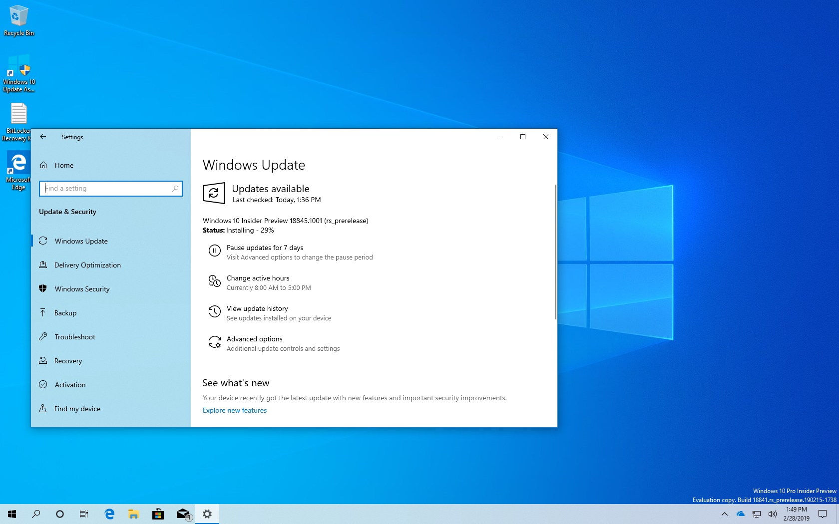 Windows 10 build 18845 (20H1) releases with improvements • Pureinfotech