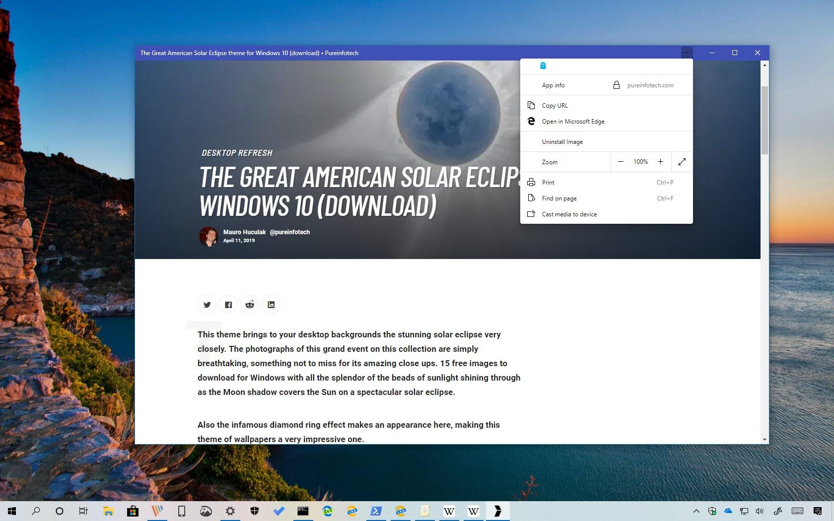 How to install a website as an app on Edge Chromium