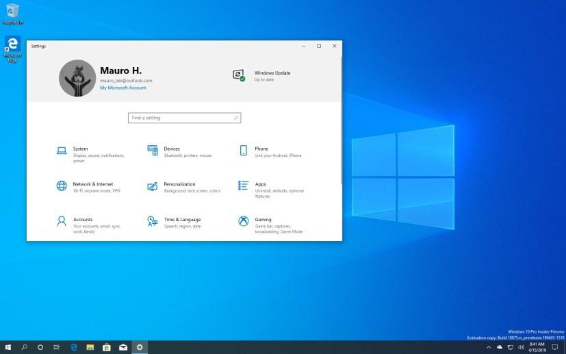 Windows 10 version 2003, 20H1 update