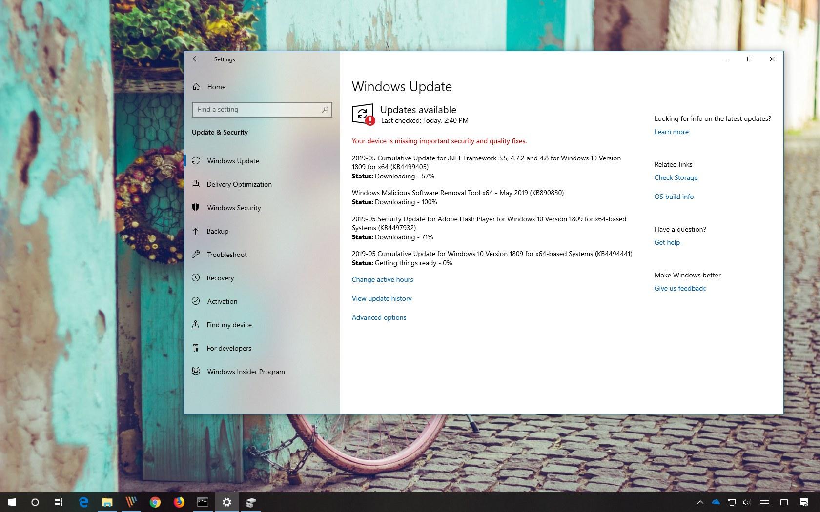 KB4494441 update for Windows 10