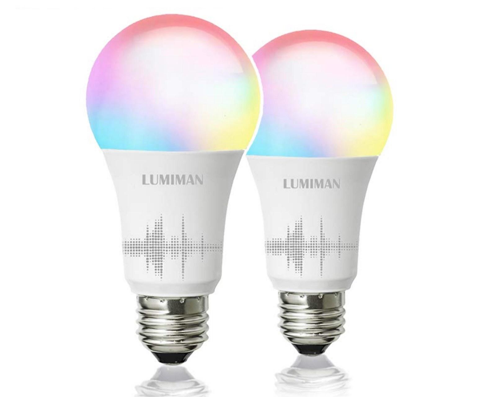 Lumiman RGB WiFi LED light bulbs