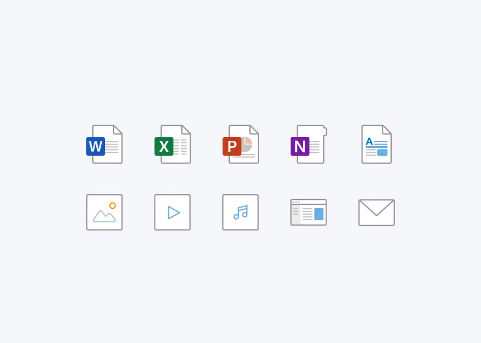 New Office filetype icons
