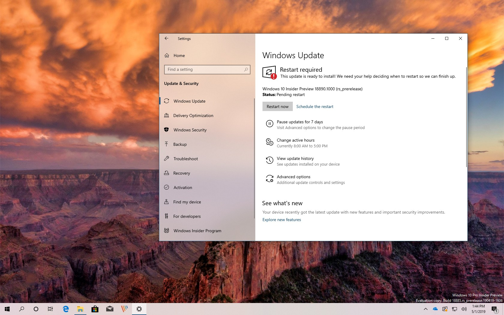 Windows 10 build 18890 (20H1) releases with changes • Pureinfotech