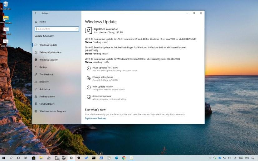 Windows 10 update KB4497936
