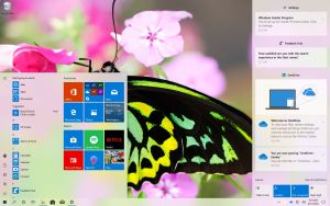 Windows 10 build 18917 (20H1) Start and Action center