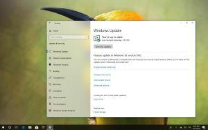 Windows 10 version 1803 to version 1903 auto-update