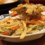 Burdock and carrot tempura