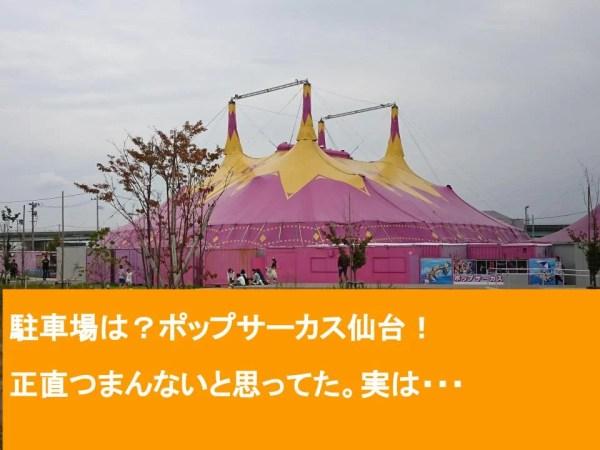 座席は指定席!ポップサーカス仙台、埼玉、愛媛!駐車場は?正直つまんないと思ってた。実は・・・