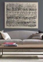 Love music? then you'll love this custom blown up music sheet.