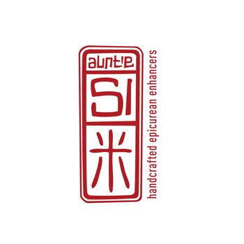 aunti si - rice wine vinegar logo by Purely Pacha