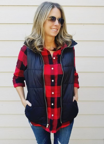 Classic Buffalo Plaid Top and Vest