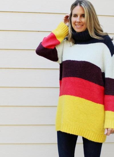 Color Block Bold Stripe Sweater