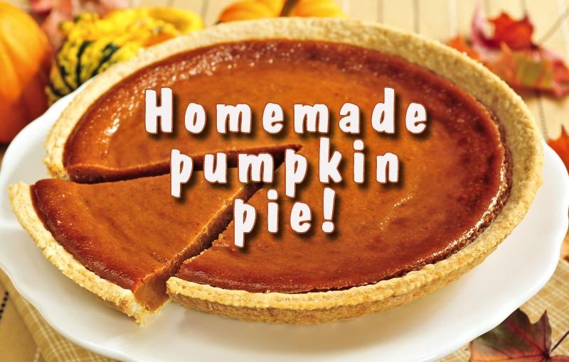 Homemade pumpkin pie!
