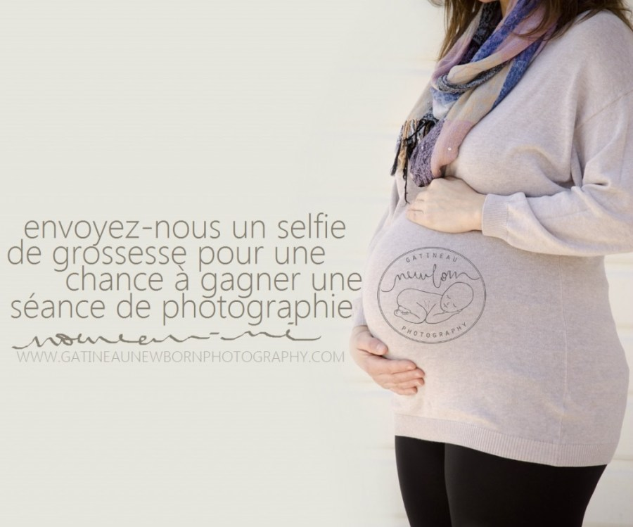 maternity belly selfie contest free newborn photography session gatineau ottawa new born photographer FR