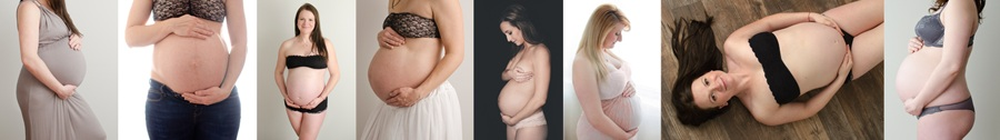 pregnancy maternity photography collage strip bellies