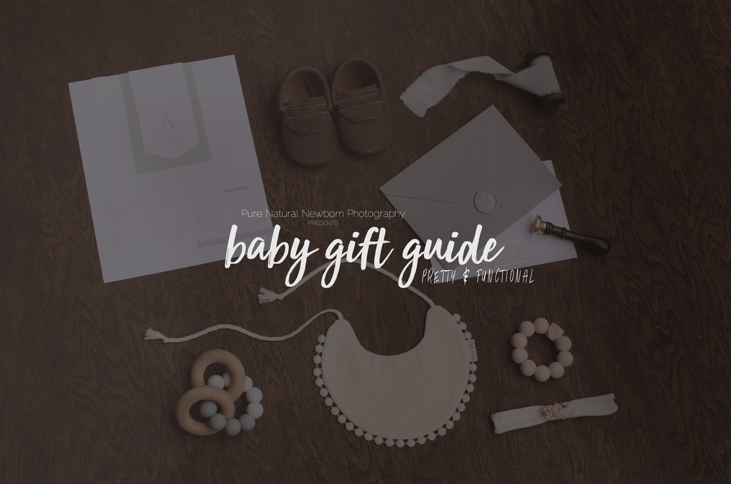The 2017 Baby Gift Guide - handmade, canadian, pretty and functional gifts. Great for a baby shower! | Pure Natural Newborn Photography, Ottawa