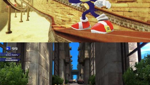 Sonic Unleashed Wii/360 Comparison Screens