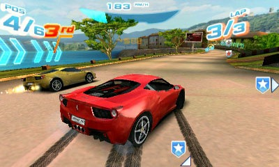 Asphalt 3D: Nitro Racing Scree...