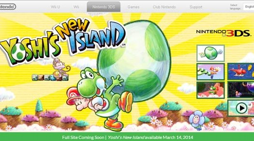 Yoshi's New Island Site Launched