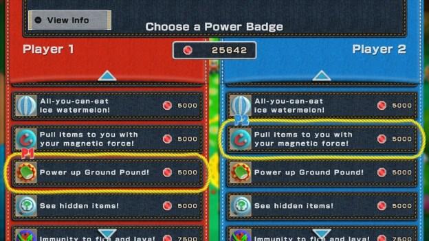 Yoshi's Woolly World - power badges