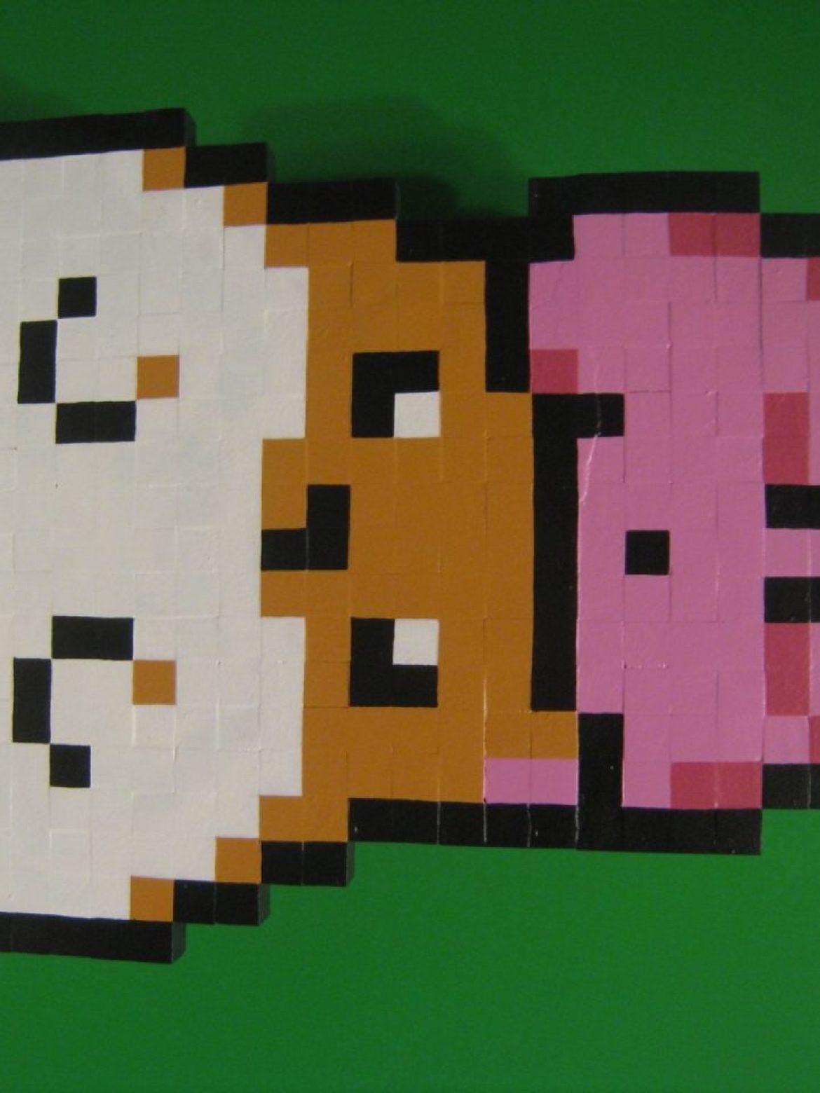 Kirby & Rick Wooden Sprite Standee by MrGilder