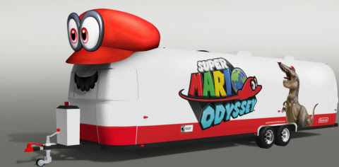 Follow Mario across the US to celebrate the launch of Super Mario Odyssey