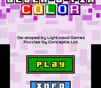 Review: Block-a-Pix Color (Nintendo 3DS)