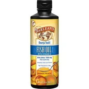 Mango Peach Swirl Fish Oil