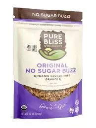 Original No Sugar Buzz Granola Pure Bliss Organics