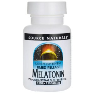 Melatonin Natural Sleep Supplement With Timed Release, Source Naturals
