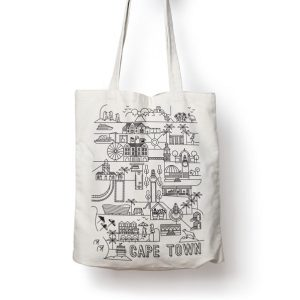 Pure Designer Products Cape Town Illustration Bull Denim Tote Bag