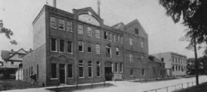 """The National Brewery on Walnut between Genesee and 4th street, you can see the """"sample room"""" on the right in the photo that was recently demolished."""