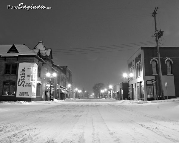 Hamilton street snow Saginaw Michigan