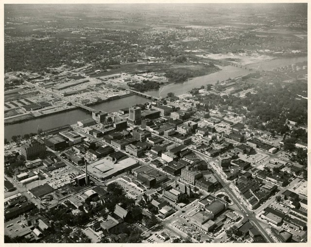 Aerial_View_of_East_Saginaw_Looking_Northwest 1965