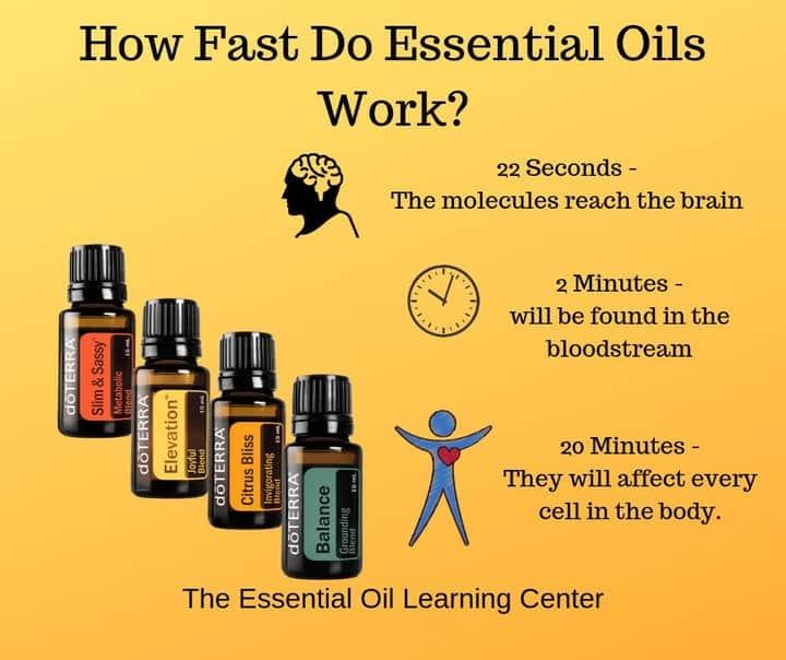 how fast do essential oils work
