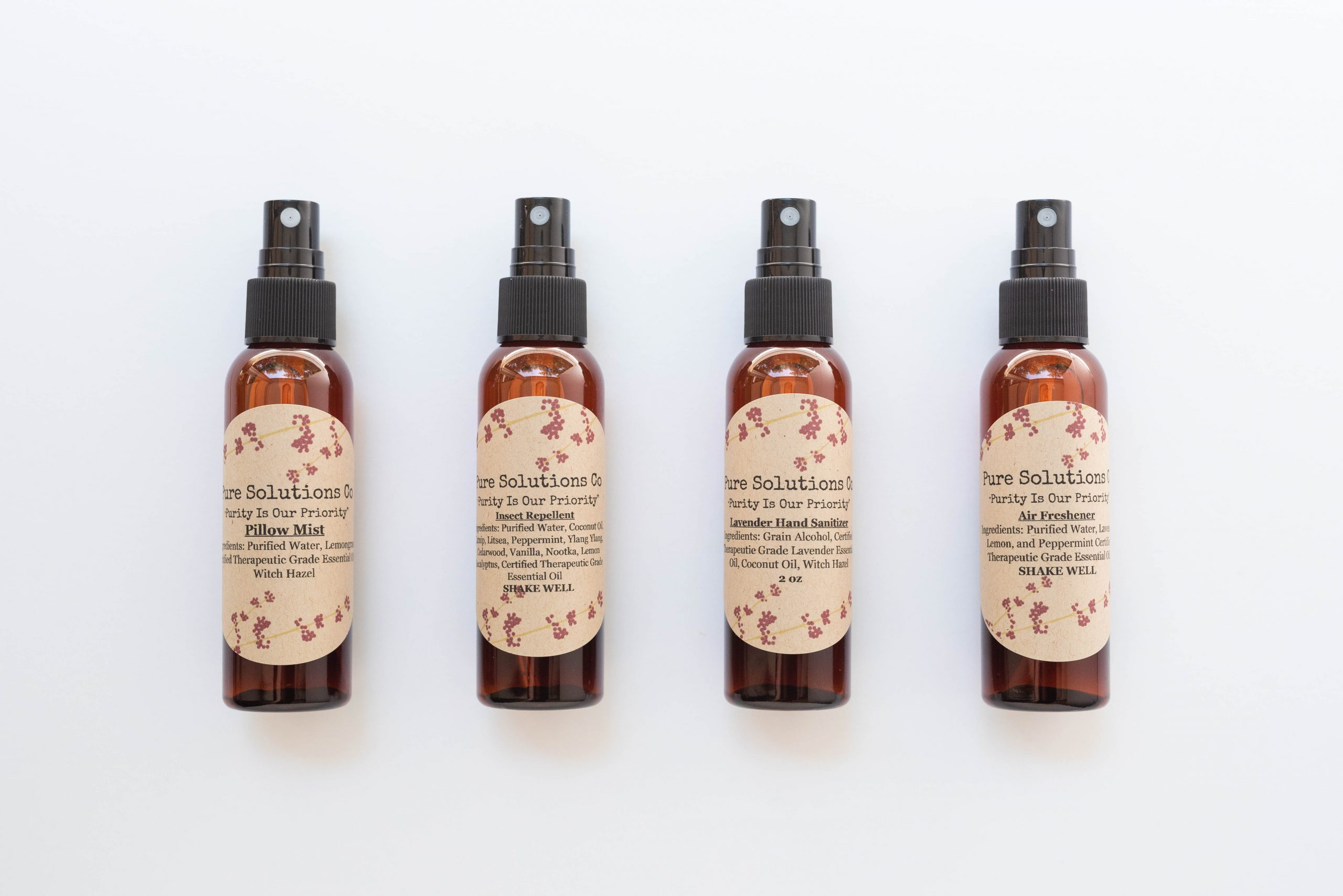 all natural spray essential oil products
