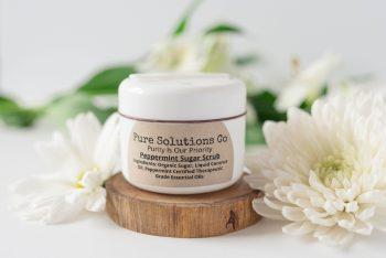 all natural peppermint sugar scrub
