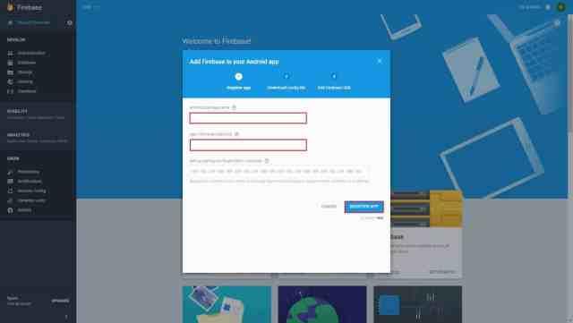 Registering app