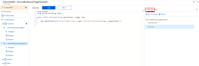 Azure Function View files