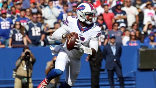 Credit: Timothy T. Ludwig/USA TODAY Sports ... Tyrod Taylor will look to give the Bills their 3rd win of the season Sunday.