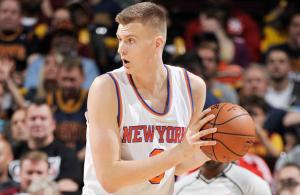 kristaps-porzingis-kevin-love-dunk-video-new-york-knicks-cleveland-cavaliers