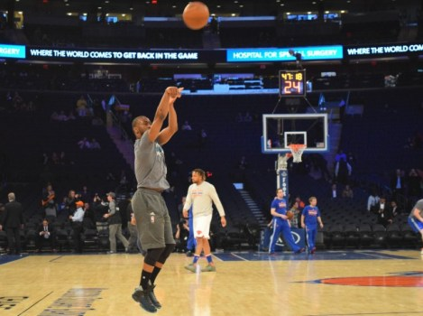 (Photo Credit: Barry Holmes/PureSportsNY) Walker torched the Knicks Wednesday night.