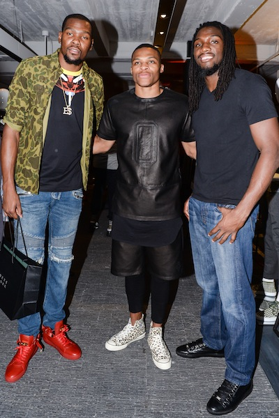 Kevin Durant, Kenneth Faried, Russell Westbrook