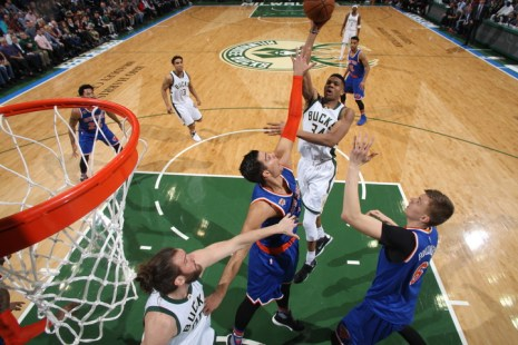 (Photo Credit: Gary Dineen/Getty Images) New York's loss to the Bucks pushed the Knicks further out of the playoff picture.