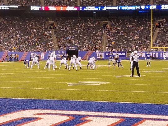 (Photo Credit: Barry Holmes/PureSportsNY) The Giants were able to hold off Hackenberg's late game heroics.