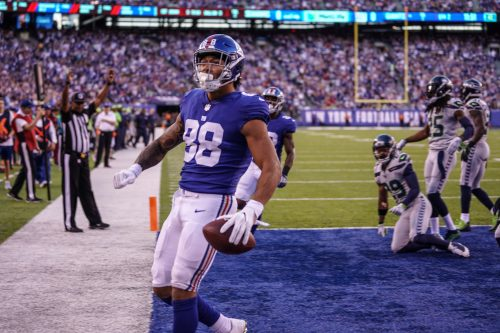 (Photo Credit: Bobby O'Hara) Engram scored the Giants only touchdown.