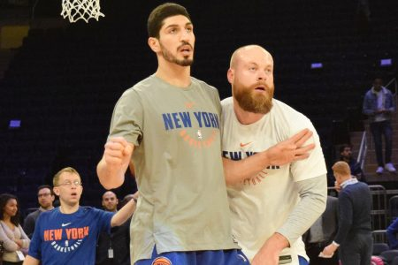 (Photo Credit: Barry Holmes/PureSportsNY) Kanter has been the backbone for the Knicks this season.
