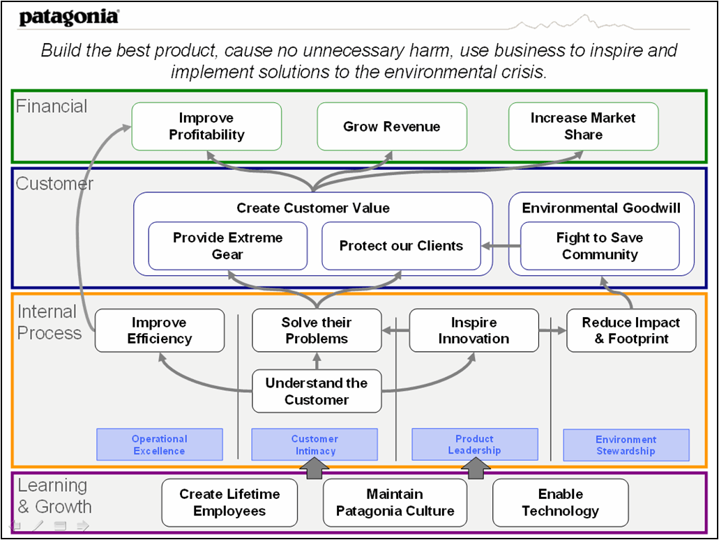 Patagonia Strategy Map